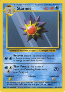 Starmie TCG card